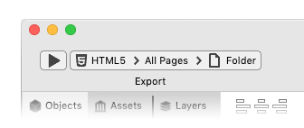 Export Menu Web Folder